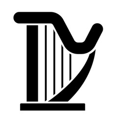 Harp icon black sign on vector