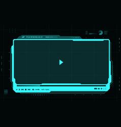 Hud futuristic video media player interface skin vector