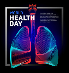 human bronchi lungs anatomy structure vector image