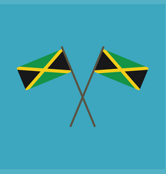Jamaica flag icon in flat design vector