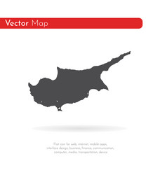 map cyprus isolated black on vector image