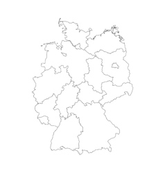 Map of Germany divided to federal states vector image