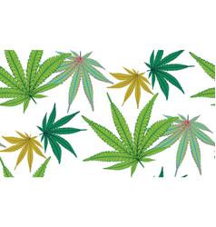 Marijuana colorful leaf vector