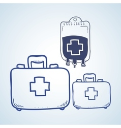 Medical care design sketch icon Flat vector image