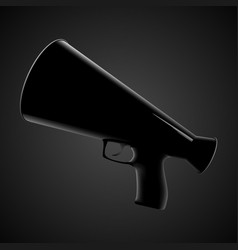 Megaphone with handle and trigger vector