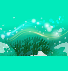 Merry christmas vintage background with green vector