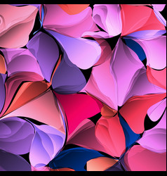 multicolor gradient abstract geometric flowers vector image