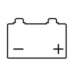 Outline battery with charge icon simple isolated vector