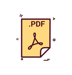 Pdf application download file files format icon vector