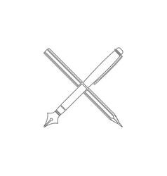 pen flat icon vector image