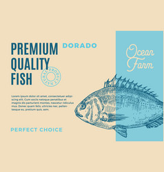 premium quality dorado abstract fish vector image