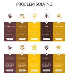 Problem solving infographic 10 steps ui design vector