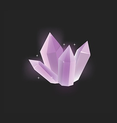 Purple crystal icon vector