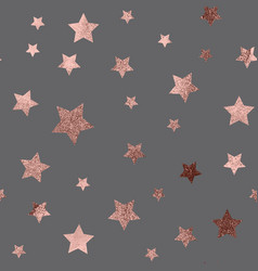 rose gold christmas glitter sparkles stars vector image