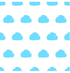 seamless pattern from cloud thought blue with vector image