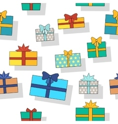 Seamless Pattern Gift Boxes vector