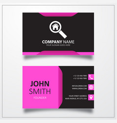 Search house business card template vector