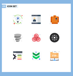 Set 9 flat colors on grid for graphic color vector