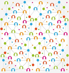 Social network internet chat community vector image