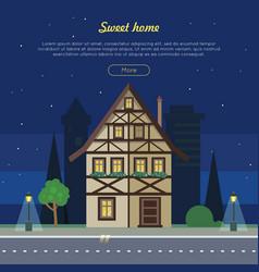 sweet home flat web banner vector image