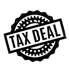 Tax deal rubber stamp vector