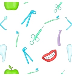 Teeth pattern cartoon style vector image