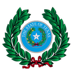 Texas wreath and state seal vector