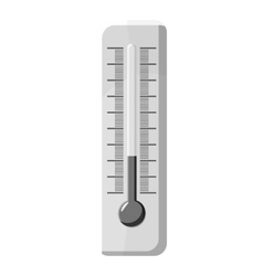 Thermometer icon gray monochrome style vector