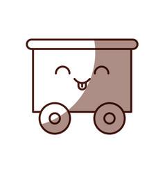 Train wagon toy kawaii character vector