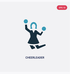 Two color cheerleader icon from smileys concept vector