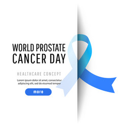 World prostate cancer day vector