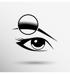 Human eye isolated eye eyebrow human female makeup vector image vector image