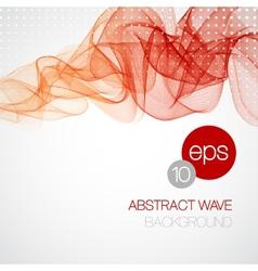 Smoke wave background vector image vector image