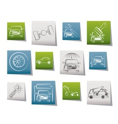 Auto service and transportation icons vector