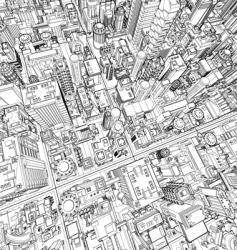 futuristic city wireframe vector image