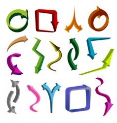 arrow shapes vector image vector image