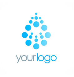 dot water drop logo vector image