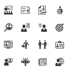 Employment and Business Icons vector image vector image