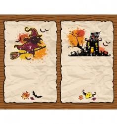 halloween cards vector image vector image