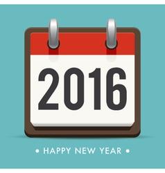 happy new year 2016 card calendar vector image vector image