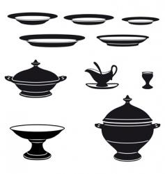 porcelain vector image vector image