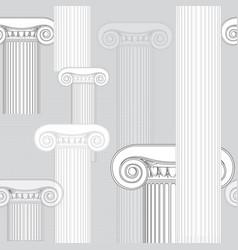 Classic columns seamless background roman vector