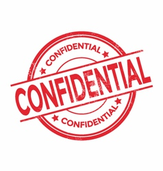 Confidential rubber stamp isolated vector image vector image