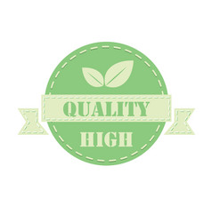 green label high quality vector image