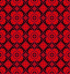 Seamless embroidered texture of abstract patterns vector image vector image