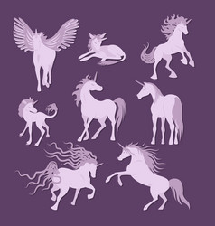 unicorns image collection vector image vector image