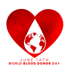 14th june world blood donor day background design vector