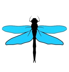 Abstract design dragonfly vector