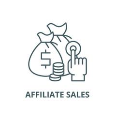 Affiliate sales line icon outline concept vector