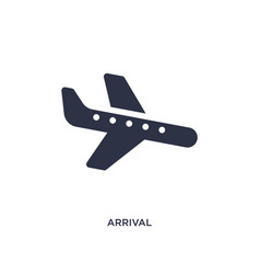 Arrival icon on white background simple element vector